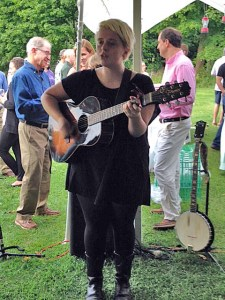 Guests were entertained by live music provided by Hannah Fair.