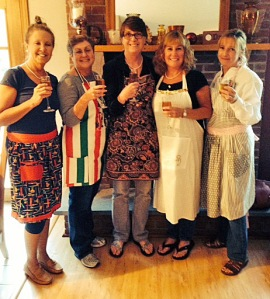 We carried out the true retro style and wore our aprons and pearls!