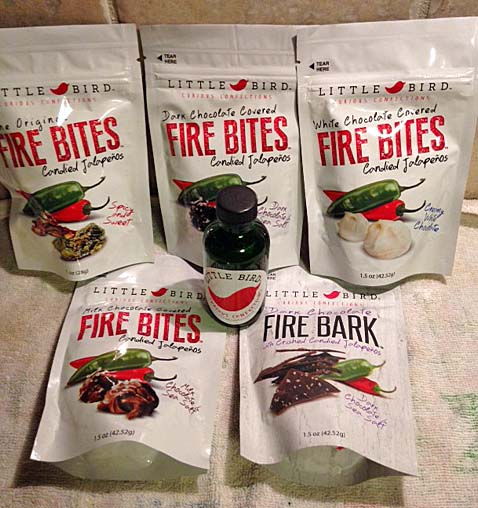 Little Bird Confections' Fire Bites and Bark Candy