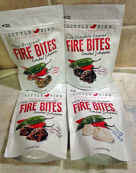 Fire Bites come in original, milk, white and dark chocolate flavors