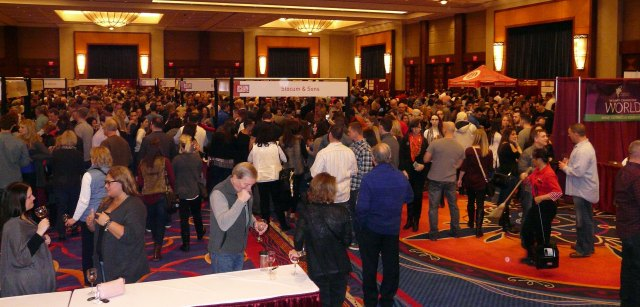 Attendees could taste hundreds of brands of wines, beer and spirits.