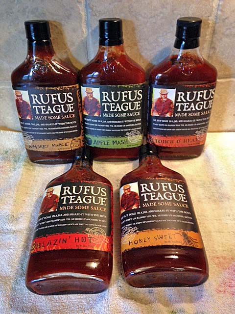 Rufus Teague is a Kansas City barbeque sauce that you can put on anything you're cooking!