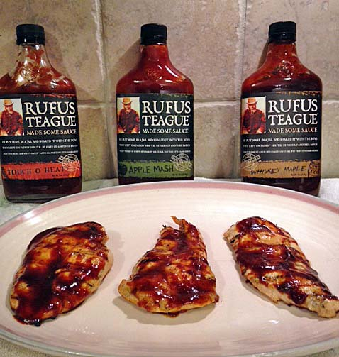 We tried the remaining three flavors on grilled chicken breasts.
