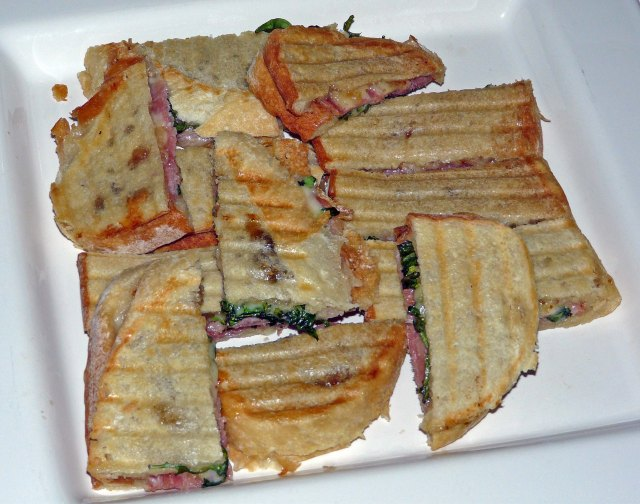 Fig jam, ham and cheese Panini